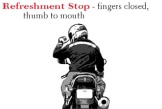 motorcycle-hand-signals-refreshment-stop